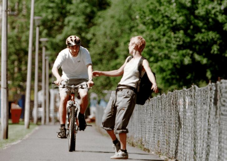 запрещено ездить на велосипеде