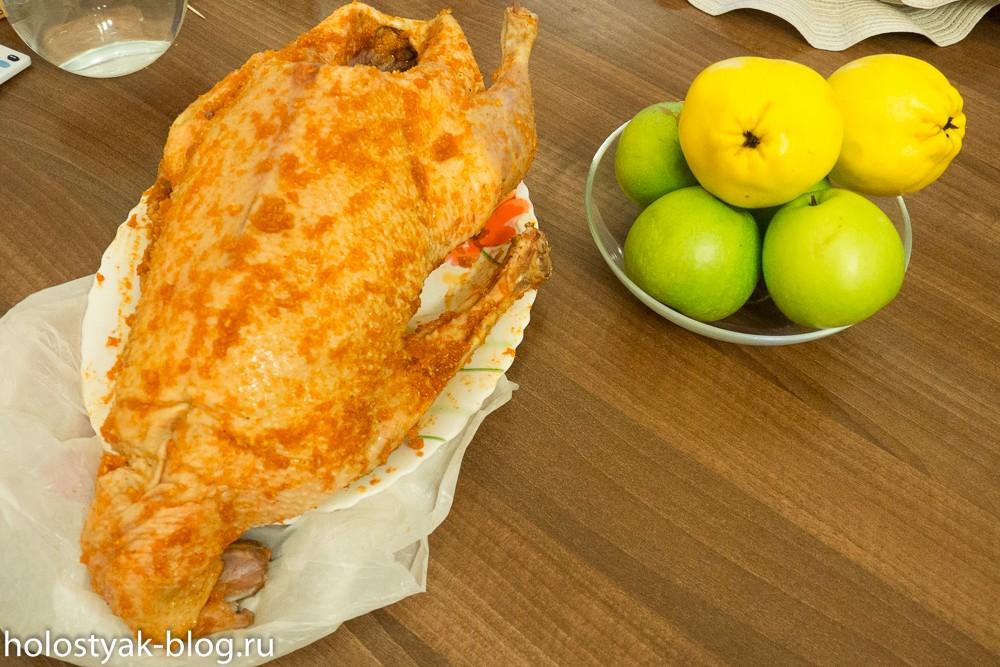 рецепт гуся с яблоками в духовке