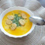 суп из плавленного сыра и курицы