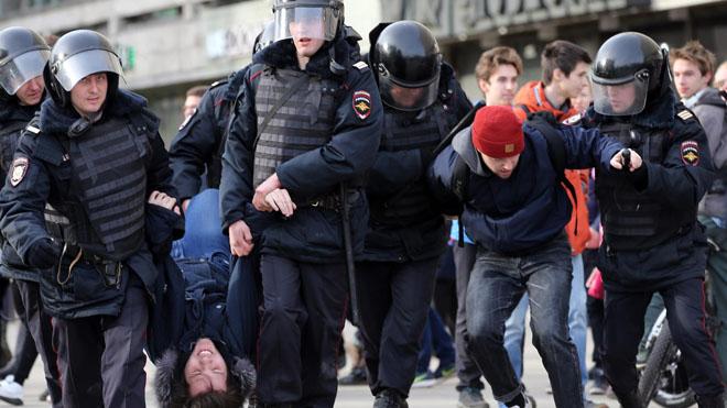 полиция на митинге