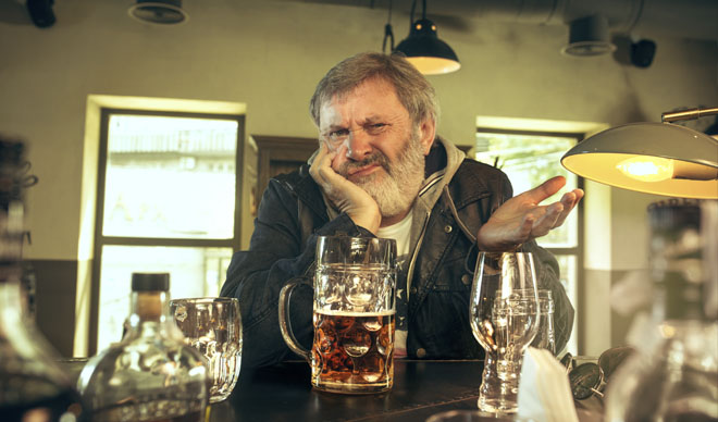 дед с пивом