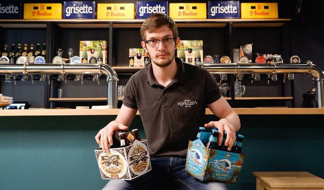 парень с пивом